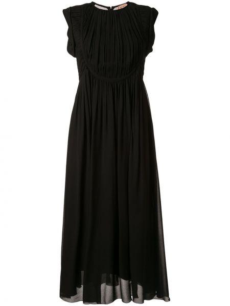 Sukienka midi chudy z falbankami N°21