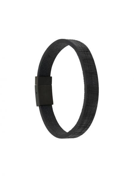 С ремешком черный кожаный браслет Tateossian