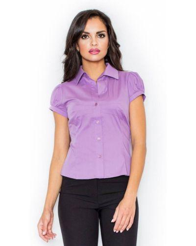 Fioletowa koszula bawełniana Figl