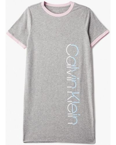 Серая ночная сорочка Calvin Klein