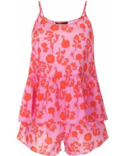 Koszula nocna bawełniana - różowa Cynthia Rowley