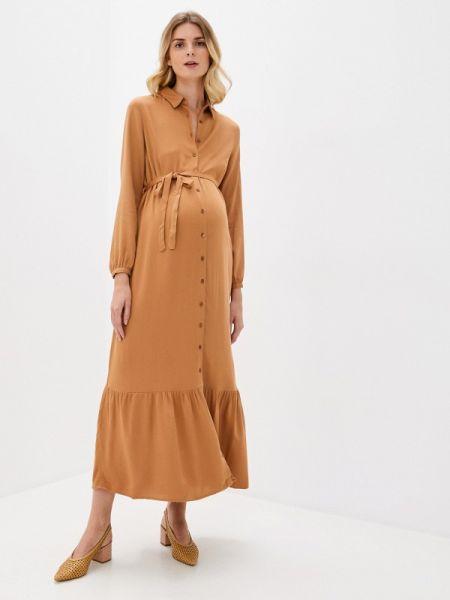 Коричневое турецкое весеннее платье-рубашка платье Lc Waikiki