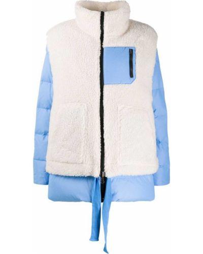 Пуховая синяя стеганая куртка Sjyp