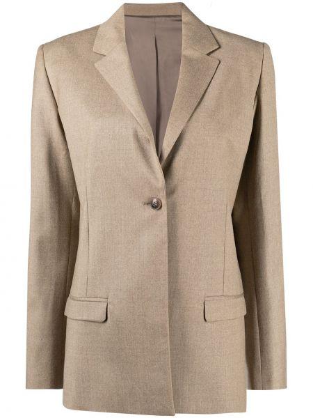 Шерстяной однобортный пиджак с воротником Toteme