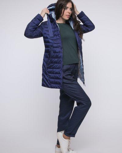 Пальто с капюшоном - синее Snowimage