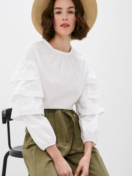 Блузка белая весенний Miss Miss By Valentina