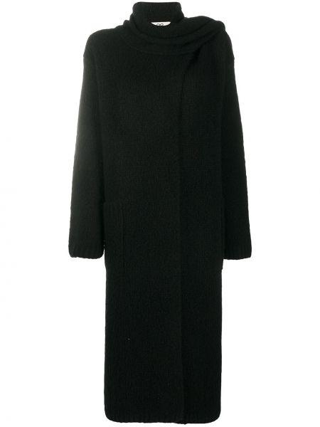 С рукавами шерстяной черный кардиган Sminfinity