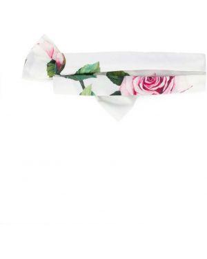 Opaska na głowę biały na głowie Dolce & Gabbana Kids