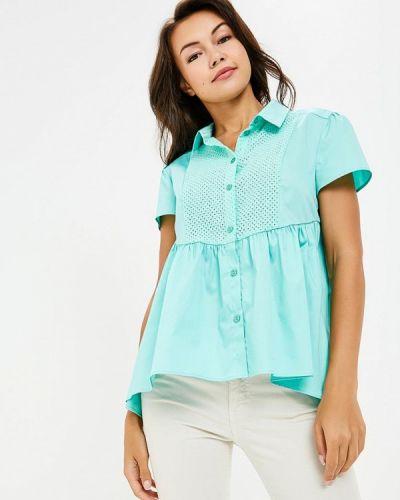 Блузка с коротким рукавом бирюзовая весенний Prio