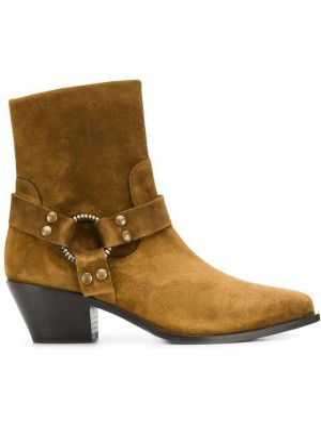 Коричневые ботинки на каблуке Paola D'arcano