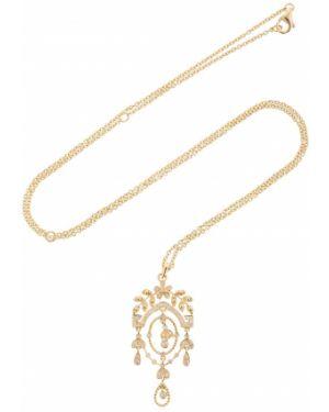 Żółty złoty naszyjnik z diamentem Yvonne Leon Paris
