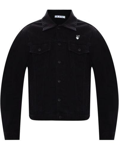 Czarna kurtka jeansowa zapinane na guziki Off-white