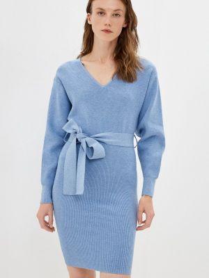 Трикотажное платье - голубое Mexx