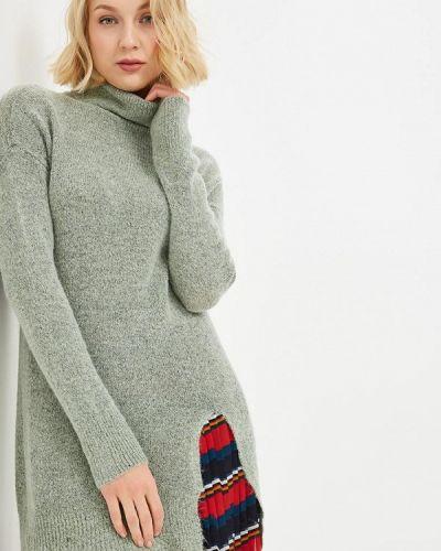 Платье осеннее зеленый Jacqueline De Yong