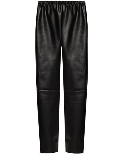 Czarne spodnie skorzane Mm6 Maison Margiela