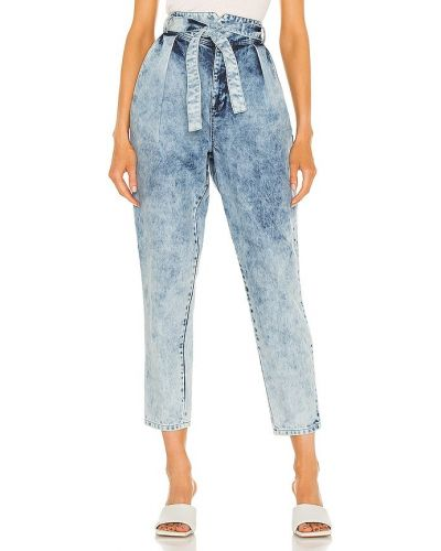 Niebieskie jeansy bawełniane miejskie Lamarque