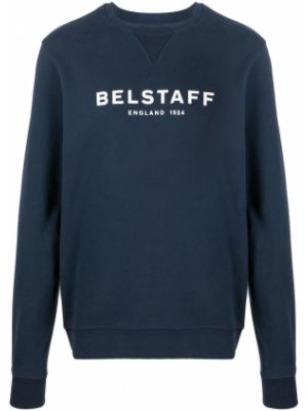 Sweter z printem - niebieski Belstaff