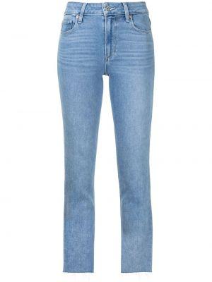 Хлопковые укороченные джинсы классические Paige