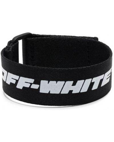 Biała bransoletka skórzana Off-white