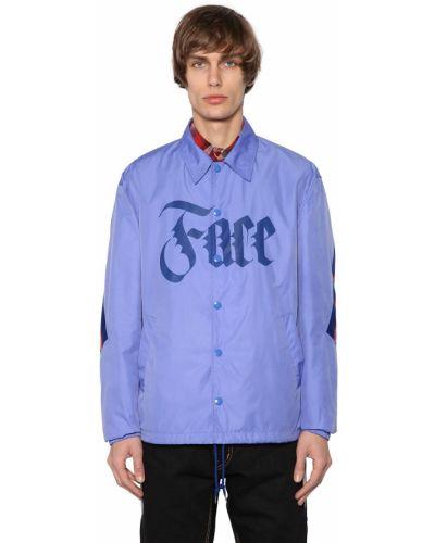 Niebieska kurtka w paski bawełniana Facetasm