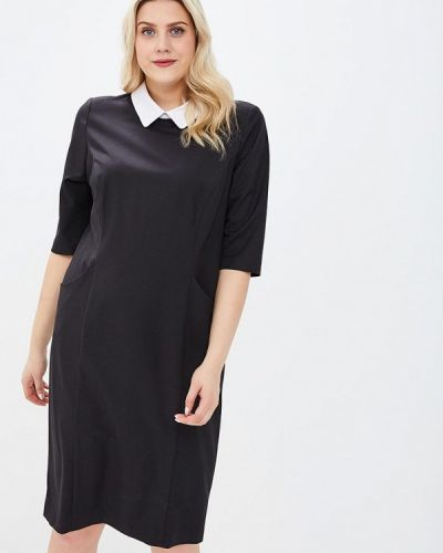 Деловое платье осеннее черное Zar Style