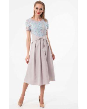 Вечернее платье летнее серое Wisell