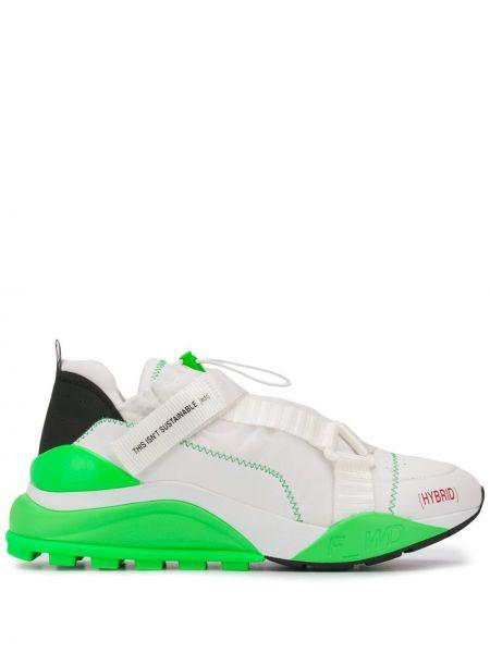 Zielone sneakersy skorzane F_wd