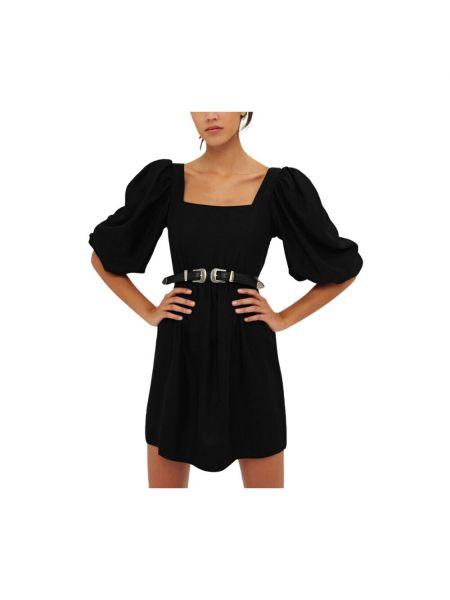 Czarna sukienka mini na lato Ba&sh