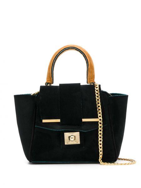 Черная сумка на цепочке Alila