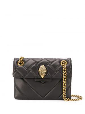 Черная стеганая сумка через плечо с перьями из натуральной кожи Kurt Geiger London