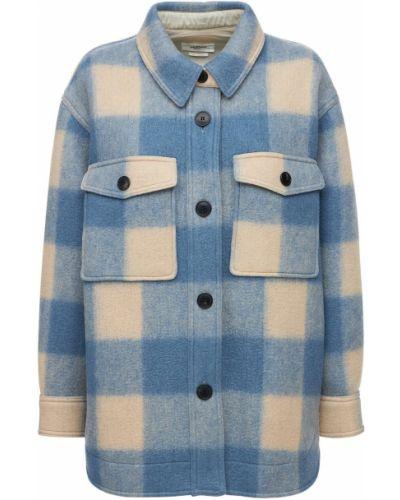Синяя шерстяная куртка Isabel Marant étoile