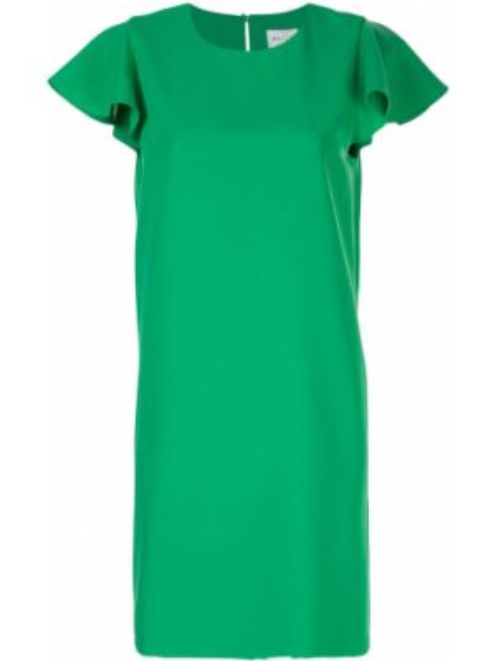 Платье мини трапеция с оборками Milly