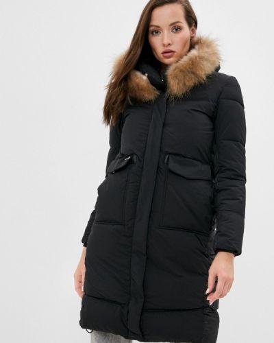 Черная утепленная куртка Fadas