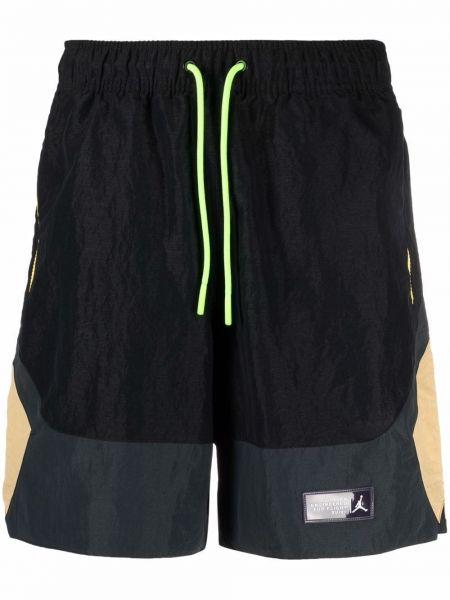 Черные нейлоновые шорты с карманами с заплатками Jordan