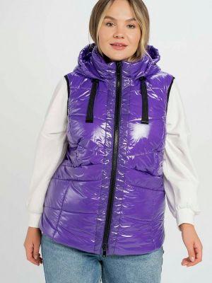 Фиолетовая демисезонная жилетка Samoon By Gerry Weber