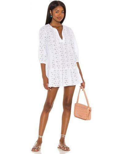 Платье мини с декольте - белое Eberjey