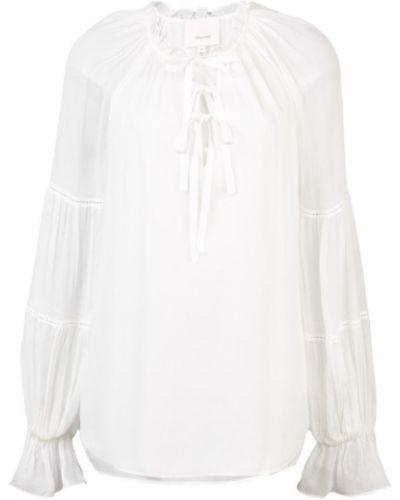 Блузка шелковая белая Cinq A Sept
