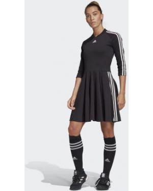 Платье в полоску с нашивками Adidas