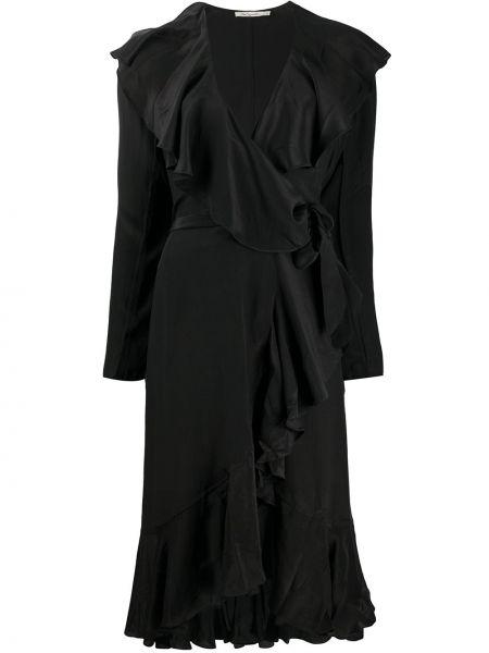 Платье миди с запахом с V-образным вырезом Mes Demoiselles
