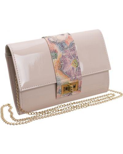 Różowa torebka na łańcuszku elegancka skórzana Rovicky