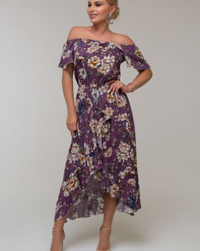 Повседневное с рукавами платье с запахом Петербургский Швейный Дом