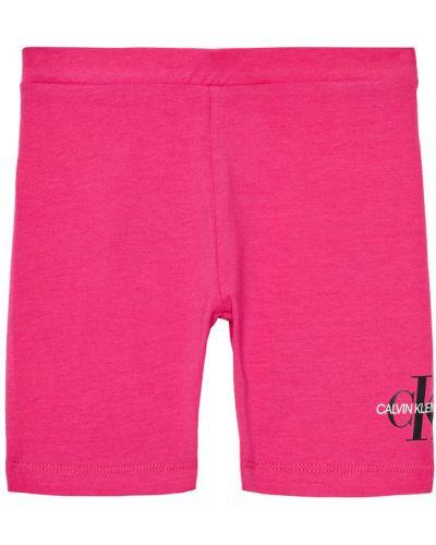 Różowe szorty jeansowe materiałowe Calvin Klein Jeans