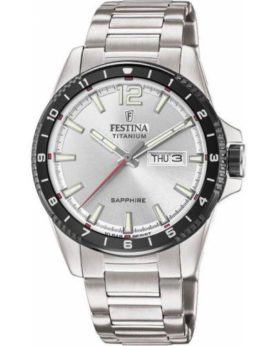 Zegarek sportowy srebrny Festina