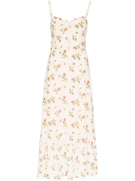 Платье на бретелях с цветочным принтом Reformation