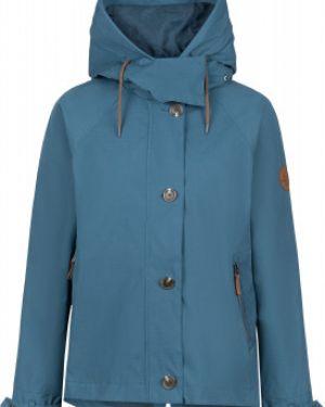 Синяя свободная нейлоновая куртка с капюшоном на молнии Outventure