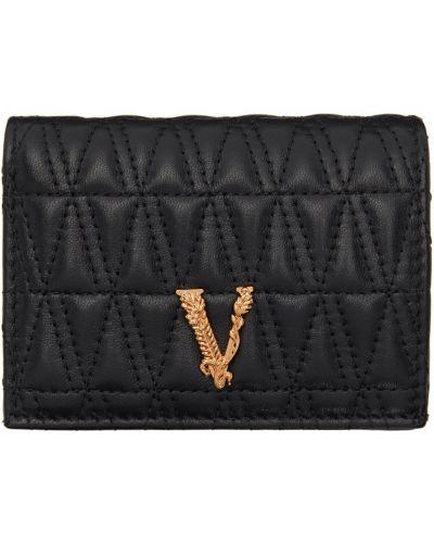 Черный кошелек для монет Versace