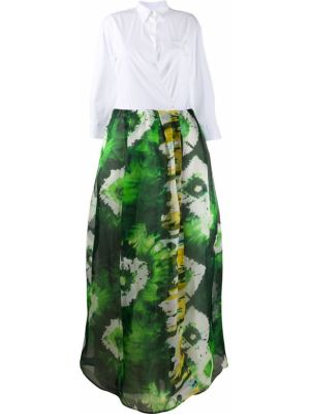 Платье с абстрактным принтом приталенное Sara Roka