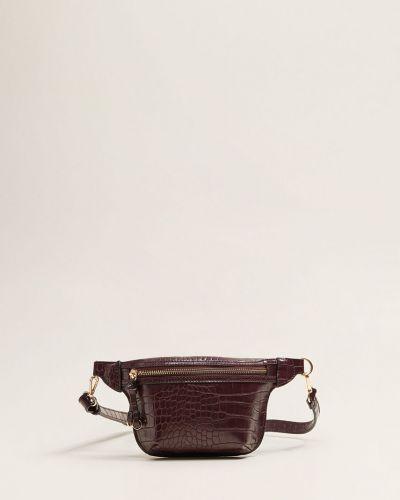 Поясная сумка маленькая кожаный Mango