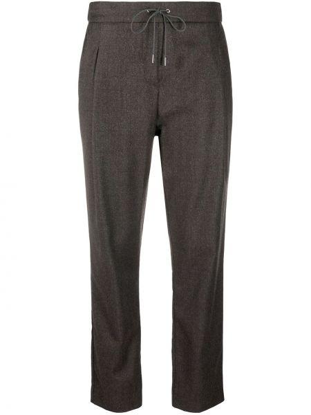 Шерстяные серые спортивные брюки эластичные Fabiana Filippi