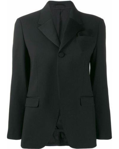 Однобортный черный пиджак на пуговицах Neil Barrett